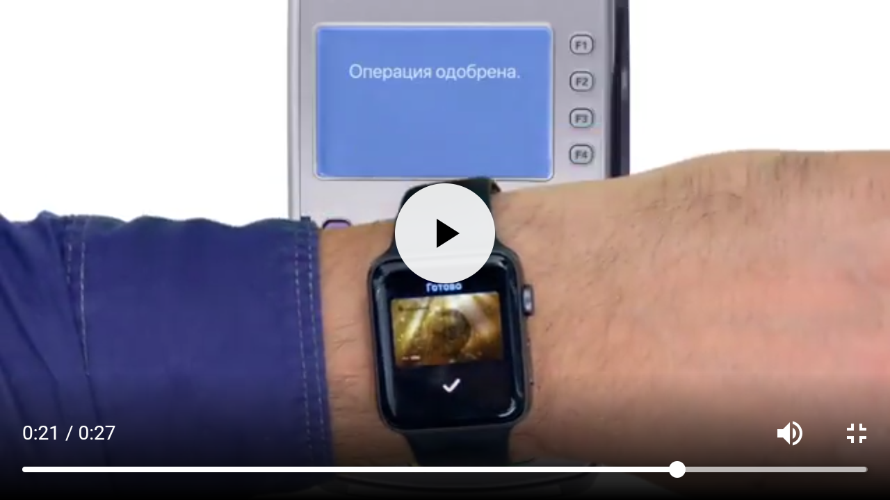 Оплата Apple Watch